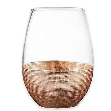 Copper Linen Wine Tumbler